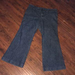 Gap denim flare jeans 14 short